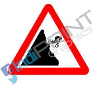 Caution Biker! Decal